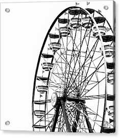 Minimalist Ferris Wheel - Square Acrylic Print by Jon Woodhams