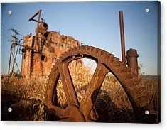 Mining Artefacts Historical Antique Machinery Acrylic Print by Dirk Ercken