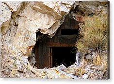 Mining Backbone Acrylic Print by Minnie Lippiatt