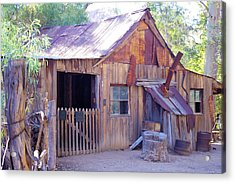 Acrylic Print featuring the photograph Mining Cabin by David Rizzo