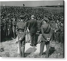 Minister Of Defence Inspects The Territorial�s. Addresses Acrylic Print by Retro Images Archive