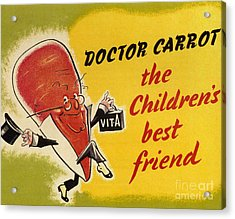 Ministry Of Food 1940s Uk Characters Acrylic Print by The Advertising Archives