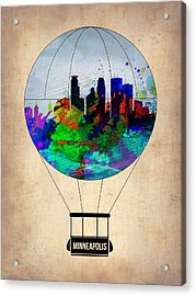 Minneapolis Air Balloon Acrylic Print by Naxart Studio