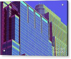 Minneapolis Downtown Blue Acrylic Print