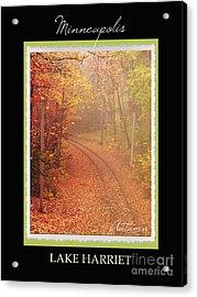Minneapolis Seasons Autumn Acrylic Print