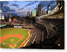 Minnesota Twins Minneapolis Skyline Target Field Acrylic Print