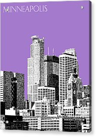 Minneapolis Skyline - Violet  Acrylic Print by DB Artist