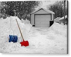 Minneapolis Winter Acrylic Print by Jim Hughes