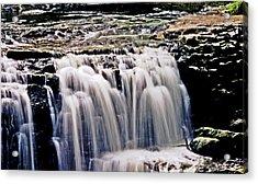 Minneopa Falls Upper Acrylic Print by Mark Russell