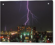 Minnesota Electrical Storm Acrylic Print by Mike McGlothlen