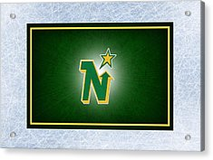Minnesota North Stars Acrylic Print by Joe Hamilton