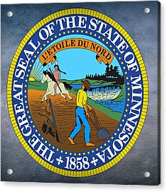 Minnesota State Seal Acrylic Print by Movie Poster Prints
