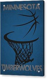Minnesota Timberwolves Hoop Acrylic Print