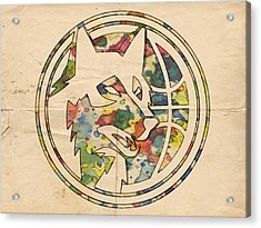 Minnesota Timberwolves Logo Art Acrylic Print by Florian Rodarte