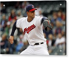 Minnesota Twins V Cleveland Indians - Game One Acrylic Print by David Maxwell