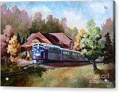 Acrylic Print featuring the painting Minnesota Zephyr by Brenda Thour