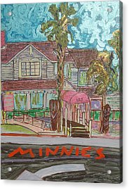Minnie S Restaurant Acrylic Print by James Christiansen