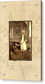 Acrylic Print featuring the photograph Minnie's Chickens by Ron Crabb