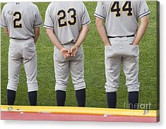 Minor League Baseball Players Acrylic Print by Jim West