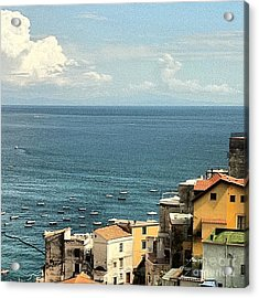 Minori By The Sea Acrylic Print by H Hoffman