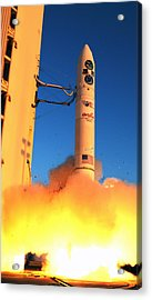 Minotaur Iv Rocket Launches Falconsat-5 Acrylic Print by Science Source