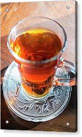 Mint Tea, Cafe, Amman, Jordan Acrylic Print by Peter Adams