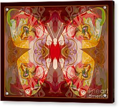 Miracles Can Happen Abstract Butterfly Artwork Acrylic Print by Omaste Witkowski