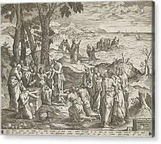 Miraculous Fishing And Miraculous Feeding Acrylic Print by Artokoloro