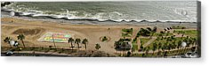 Miraflores Beach Panorama Acrylic Print