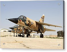 Mirage F.1 Fighter Planes Of The Royal Acrylic Print by Ofer Zidon