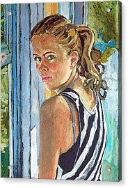 Miriam Acrylic Print by Janet Ashworth