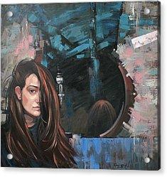 Acrylic Print featuring the painting Mirror by Anastasija Kraineva