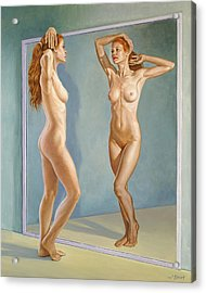 Mirror Image Acrylic Print by Paul Krapf
