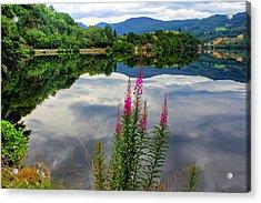 Mirror Lake Bjorheimsvatnet In Rogaland  Acrylic Print