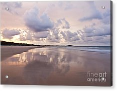 Mirror On Main Acrylic Print by Nicole Doyle