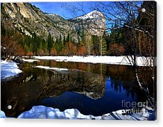 Mirror On The Lake Acrylic Print by Peter Dang