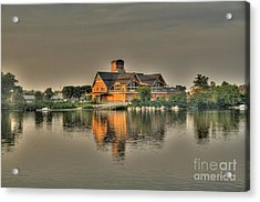 Acrylic Print featuring the photograph Mirrored Boat House by Jim Lepard