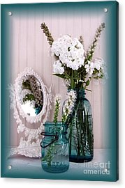 Mirrored Bouquet 1 Acrylic Print by Margaret Newcomb
