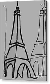 Mirrored Eiffel Tower Acrylic Print
