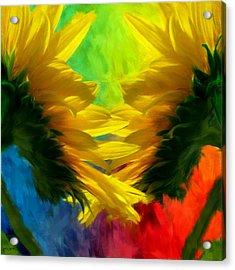 Mirrorring Suns Acrylic Print by Lourry Legarde