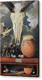 Curio - Pastel Acrylic Print by Ben Kotyuk
