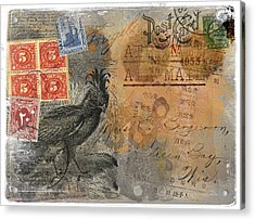 Miss Bergeron Postcard Acrylic Print by Carol Leigh