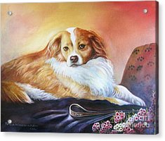 Acrylic Print featuring the painting Miss Daisy by Patricia Schneider Mitchell