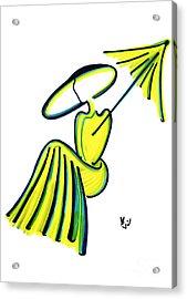 Miss Deauville Acrylic Print