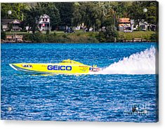 Miss Geico With Rooster Tail Acrylic Print