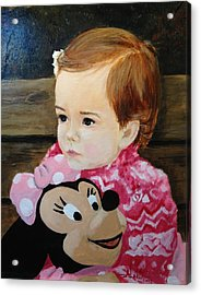 Acrylic Print featuring the painting Miss Haley by Alan Lakin