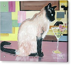 Miss Kitty And Her Treat Acrylic Print
