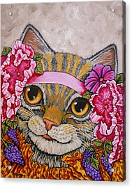 Miss Kitty Acrylic Print by Sherry Dole