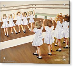 Acrylic Print featuring the painting Miss Lum's Ballet Class by Cynthia Parsons
