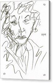 Miss Marple Sketch I Acrylic Print